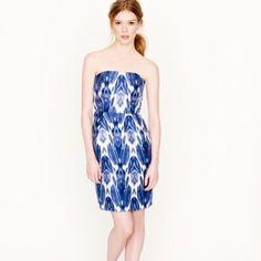 Nwt J Crew Collection Silk Ikat Dress