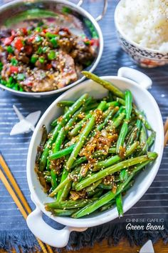 Chinese garlic green beans- our favorite veggie side dish!