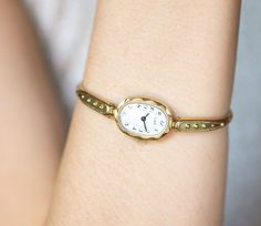 Cocktail watch bracelet Ray gold plated women's watch by 4Rooms