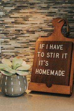 Wooden Letter Boards. Simple Modern Home Decor Ideas. | Rettel Co.