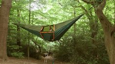 Tentsile is a dangling tent that offers similar comfort to a hammock and can be used in a number of environments.