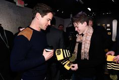 """Matt Bomer Photos Photos - (L-R) Actors Matt Bomer and Josh Wiggins of """"Walking Out"""" attend The IMDb Studio featuring the Filmmaker Discovery Lounge, presented by Amazon Video Direct: Day Two during The 2017 Sundance Film Festival on January 21, 2017 in Park City, Utah. - The IMDb Studio at the 2017 Sundance Film Festival Featuring the Filmmaker Discovery Lounge, Presented by Amazon Video Direct: Day Two - 2017 Park City"""