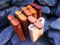 futo dugouts large slim size made from assorted wood. pictured tiger wood, canarywood, purpleheart, white oak #dugouts #onehitter #420 #headshop #futo http://www.futodugouts.com https://www.facebook.com/futo.manufacturing https://www.flickr.com/photos/futodugouts/shares/282Qm9 | Futo Manufacturing