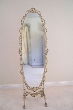 VICTORIAN DRESSING MIRROR ANTIQUE MIRROR Victorian Mirror, Victorian Decor, Vintage Mirrors, Fancy Mirrors, Dressing Mirror, French Dressing, Mirror Inspiration, Mirror Box, Shabby Chic Mirror