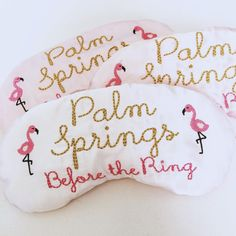 Palm Springs bachelorette party sleep mask by TheSleepyCottage