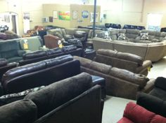 More Sofas and Recliners.