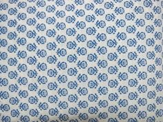 1 yard india Cotton Fabric/Natural Vegetable Dyes for Dresses,Curtain White and Blue Jaipur Hand block Sanganeri Printed