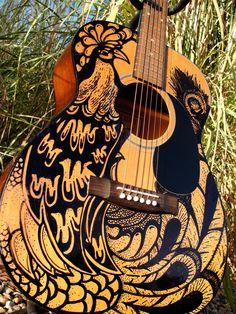 Sharpied guitar