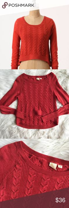 Anthro Yellow Bird Sporadic Stitchery Pullover Excellent condition Anthro Yellow Bird Sporadic Stitchery Pullover Sweater. Cable knit style, stretchy, size XS. Very minimal wear! Perfect Fall staple! Measurements to come. No trades, offers welcome. Anthropologie Sweaters Crew & Scoop Necks