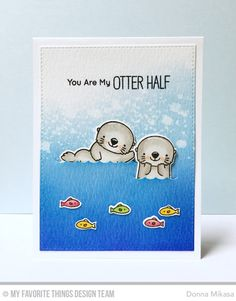 Otterly Love You Stamp Set and Die-namics, Blueprints 24 Die-namics - Donna Mikasa #mftstamps