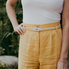 DIY Rope Belt - An easy DIY that only takes 20 minutes.  The rope belt works great with high waisted pants or a summer dress.   Check out the blog for the step by step tutorial.