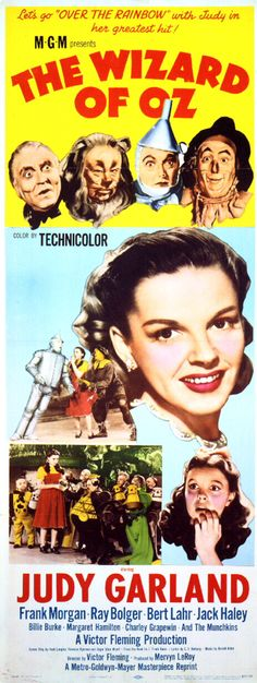 """The Wizard of Oz (1939) """"let's go 'over the rainbow' with judy...."""""""