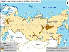 #Russia Major #Coal Reserves Location Map