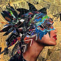 Image result for juxtapoz collage artist