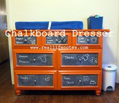 Chalkboard Dresser by Real Life Notes