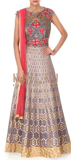 Buy this Light purple anarkali in resham and patch work only on Kalki