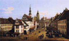 The Marketplace at Pirna - Bernardo Bellotto