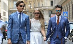 M. Raro, Eleonora Sebastiani & companion at Milan Fashion Week - by Robert Spangle - Street Style