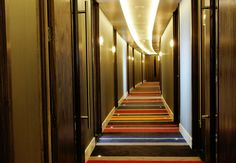 Lots of colour at the Sandman Signature Hotel Newcastle, UK