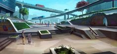 Check out these really cool skating concept images I´ve found online. Skate 3 wants to incorporate the different concepts brought out. Game Concept, Concept Art, Skate 3, Video Games, Animation, Cool Stuff, Skateboarding, Outdoor Decor, Films