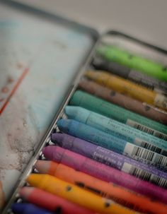 Caran d'Ache water soluble painting crayons        (via artpixie). Most wonderful of all water soluble drawing medium.