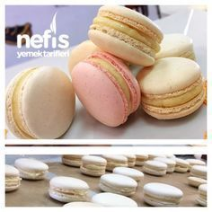 Making macarons from your boss with tricks - delicious recipes .- Make macarons from your boss with tricks – delicious recipes, # delicious - Vanilla French Macaron Recipe, Super Easy Dessert Recipe, Snickers Torte, Cookie Recipes, Dessert Recipes, Yummy Recipes, Potato Chip Cookies, Double Chocolate Chip Cookies, Comfort Food