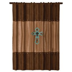 Western Shower Curtains: Las Cruces Turquoise Shower Curtain|Lone Star Western Decor
