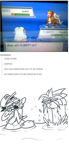 Go home Entei, you're a fire pokemon