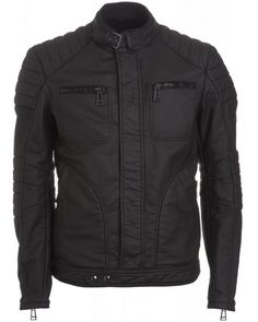 Belstaff Men's Black Fitted 'Weybridge' Jacket from Repertoire