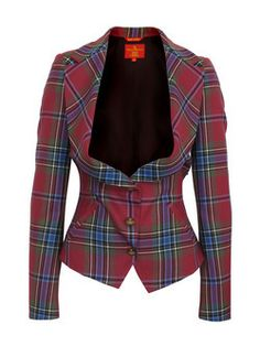 Vivienne Westwood-Tartan couture. Love this! I'd pair it with a pencil skirt & boots!