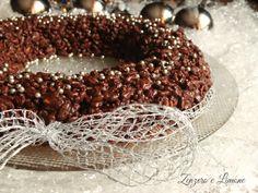 corona croccante al cioccolato e riso soffiato -