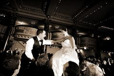 Mazel Tov! The bride, who is part Jewish, couldn't imagine skipping Hava Nagila  at the reception!