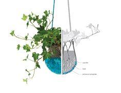 self-nourishing crystal planters by maria bujalska | felted planter #DIY