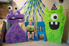 The best Monster Party ideas and links Monster First Birthday, Monster 1st Birthdays, Monster Birthday Parties, Baby Boy 1st Birthday, First Birthday Parties, Birthday Party Themes, First Birthdays, Birthday Ideas, Monster Inc Party