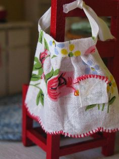 apron from a vintage hankie