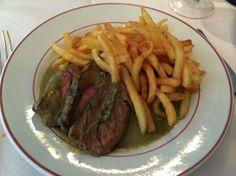le relais de venise l'entrecote - steak and fries.
