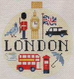 Kirk & Bradley London needlepoint ornament