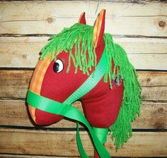 Meet Scout ~ Child's Stick Horse / Kid's Stick Horse Toy / Boy's Girl's Stick Horse Western Country Rodeo Pony / Great Birthday Gift by JazziGenShoppe
