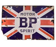 """Vintage Enamel Sign """"BP"""""""