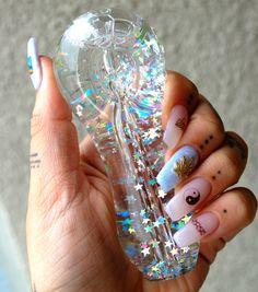 """""""StarGaze"""" Freezable Gitter Glass Pipe                                                                                                                                                                                 More"""