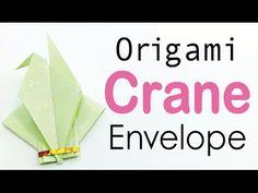 Origami Paper Crane Envelope Instructions - DIY - Origami Kawaii                                                                                                                                                                                 More
