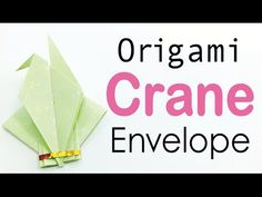 Origami Paper Crane Envelope Instructions - DIY - Origami Kawaii                                                                                                                                                                                 More