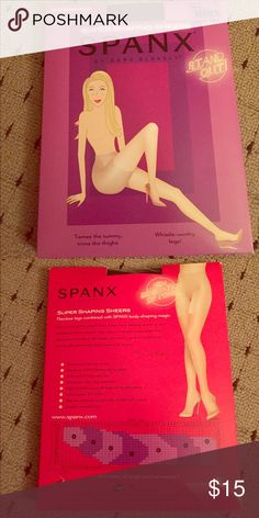 SPANX Super Shaping Sheers SPANX super shaping sheers size D black. Slims tummy, thighs and rear SPANX Accessories Hosiery & Socks