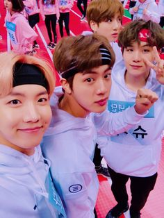 J-Hope, Jin, Suga, and Jungkook