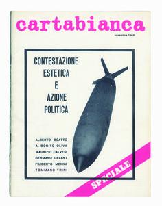 "#Cartabianca, 1968. In copertina Pino Pascali, ""Natura Morta"""
