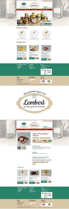 Site e-commerce, boutique en ligne pour les foies gras Maison Lembert #ecommerce #web #design #Foiegras #Périgord #boutique #site - www.lembertfoiesgras.com
