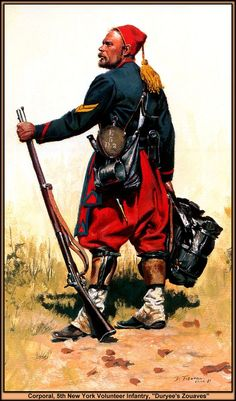 Corporal, 5th New York Volunteer Infantry - Duryee's Zouaves - by Don Troiani  lively continuance