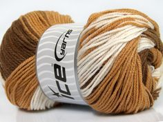 Fiber Content 100% Premium Acrylic White Brand Ice Yarns Brown Shades fnt2-44919