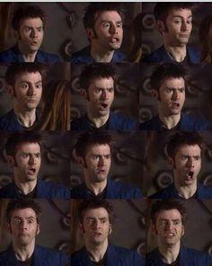 The faces of David Tennant.