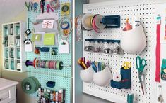 organization, craft organization, pegboard organization